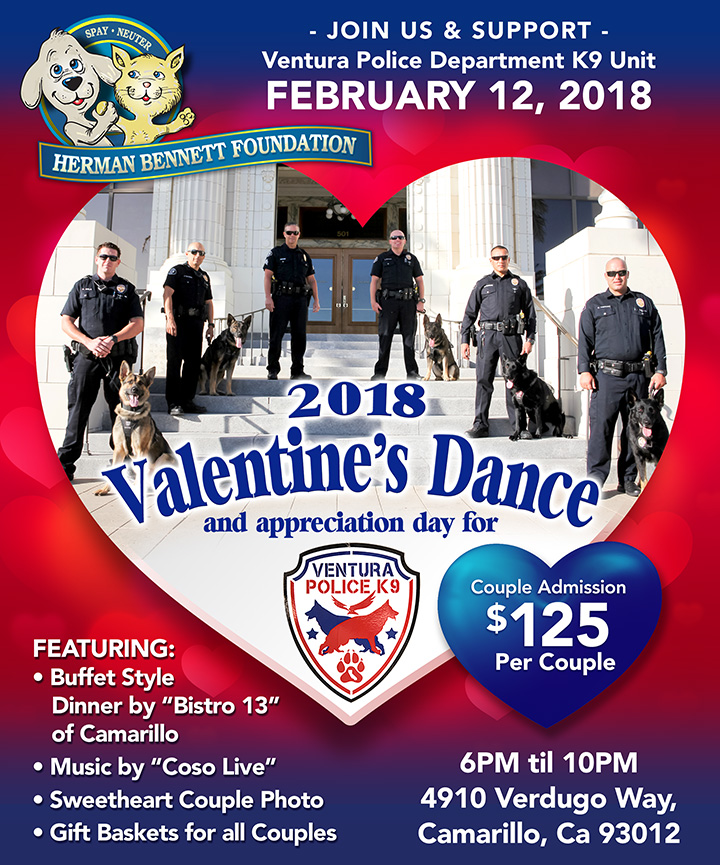 Valentine's Dance! Join us to honor the Ventura Police Department K9 Unit